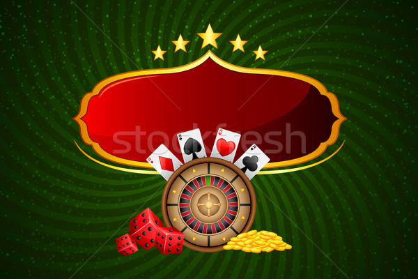 Casino ilustración bordo ruleta moneda dinero Foto stock © vectomart