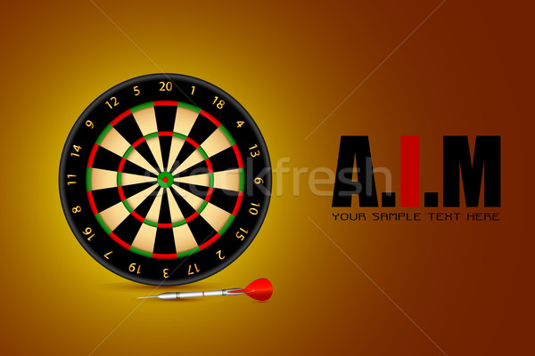 Aim Background with Dart Board Stock photo © vectomart