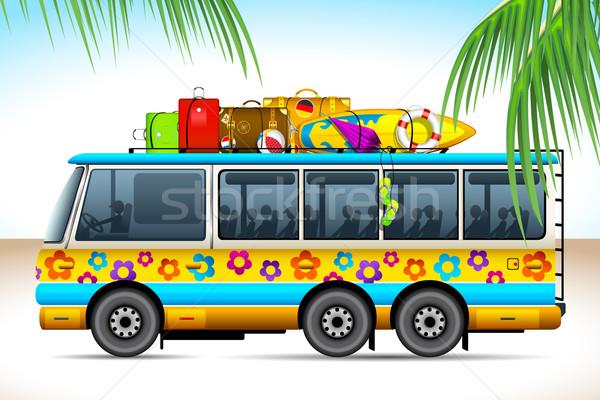 Trip on Bus Stock photo © vectomart