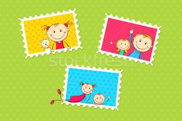 Kids Photo Frame Stock photo © vectomart