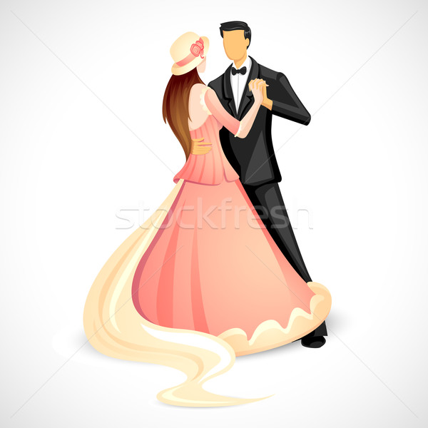 Couple doing Ball Dance Stock photo © vectomart