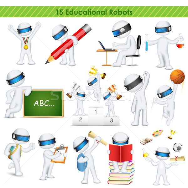3d education student in fully scalable vector Stock photo © vectomart