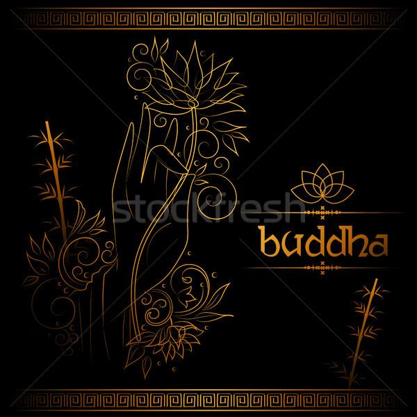 Stok fotoğraf: Buda · meditasyon · budist · festival · mutlu · örnek