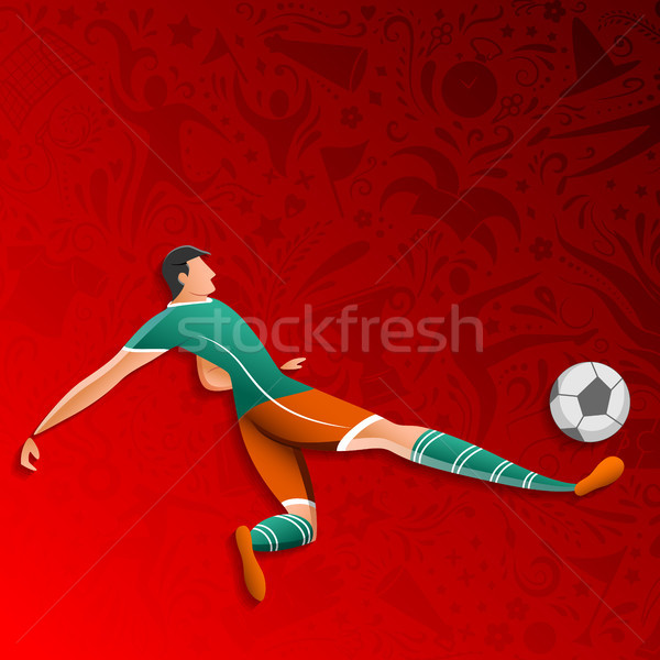 Stock photo: Football Championship Cup soccer sports Russia background for 2018