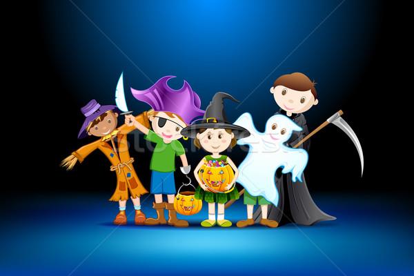 Kids Halloween Party Stock photo © vectomart