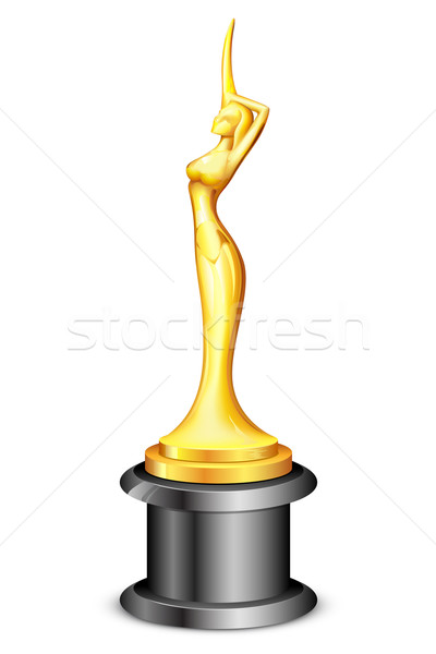 Lady Statue Trophy Stock photo © vectomart