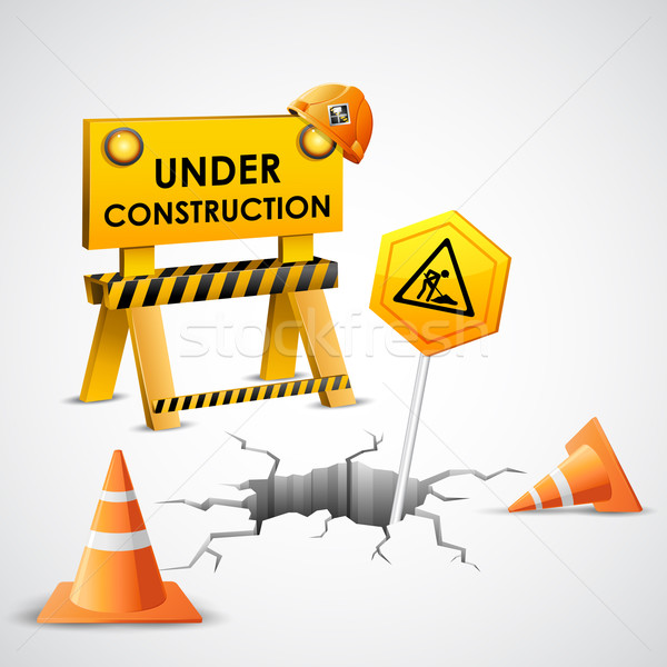 Under Construction Background Stock photo © vectomart