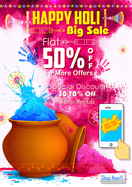 Happy Holi promotional background Stock photo © vectomart
