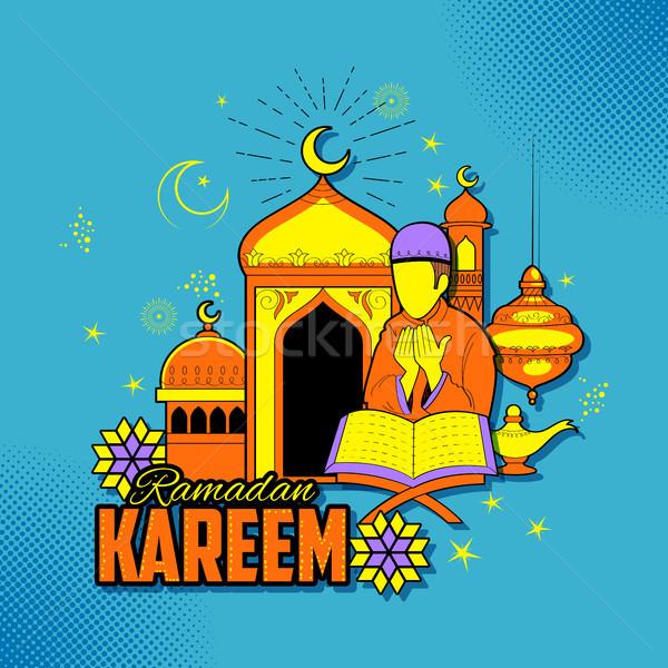 Pessoas ramadan generoso islão religioso festival Foto stock © vectomart