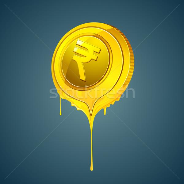 Olvad illusztráció érme absztrakt pénz háttér Stock fotó © vectomart