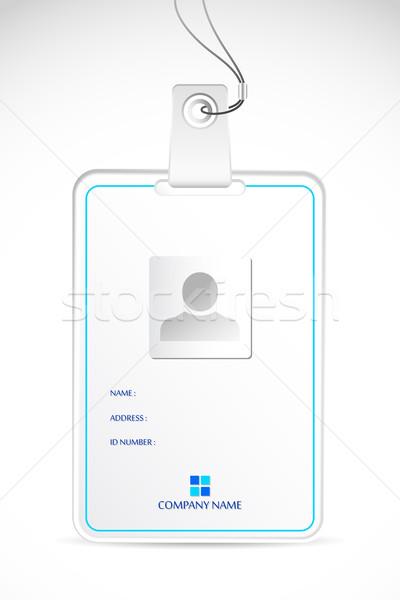 Kimlik kartı örnek soyut iş temas kurumsal Stok fotoğraf © vectomart