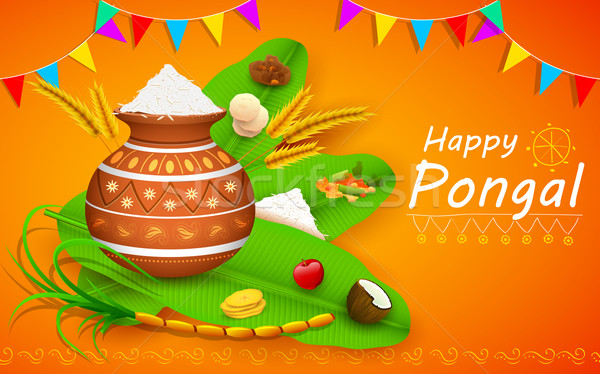 Happy Pongal Stock photo © vectomart