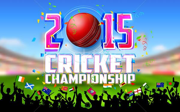 Stadium of cricket Stock photo © vectomart