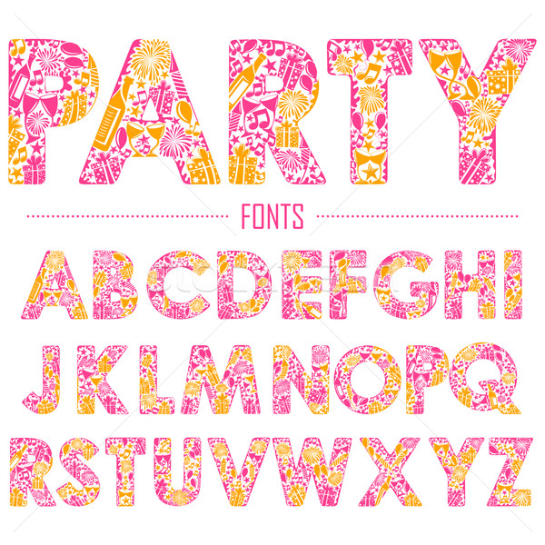 English alphabet for party design Stock photo © vectomart