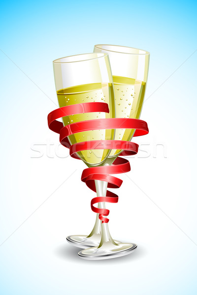 Champagne Glass with Ribbon Stock photo © vectomart