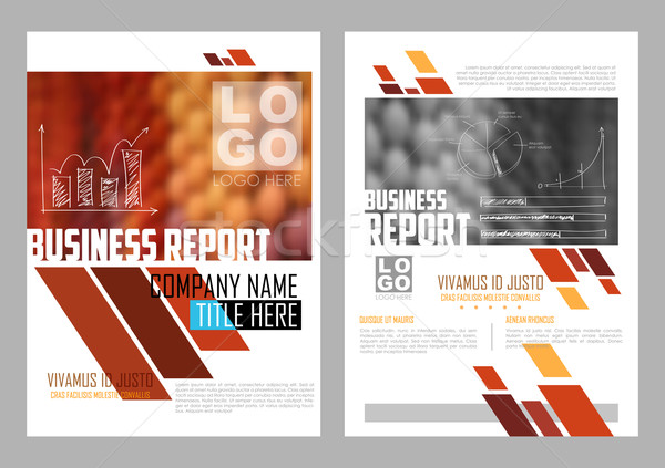 Annual Report and Presentation Template design Stock photo © vectomart