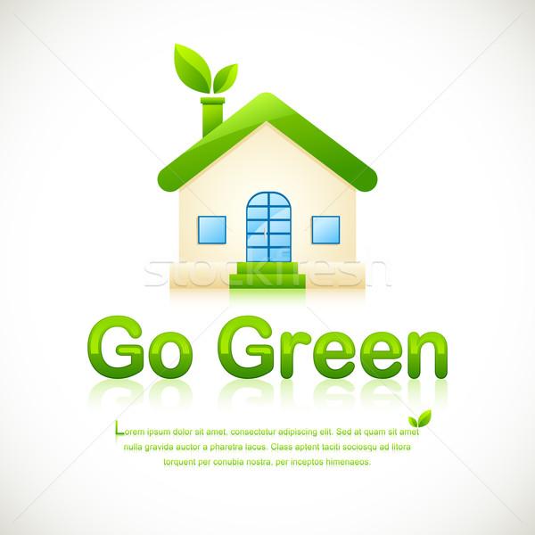 Green Home Stock photo © vectomart