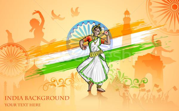 Cultura India illustrazione colorato design sfondo Foto d'archivio © vectomart