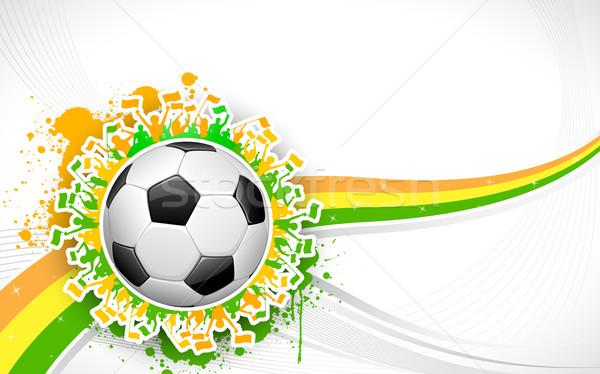 Fútbol mundo taza ilustración balón de fútbol fútbol Foto stock © vectomart