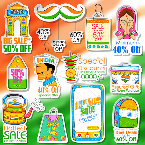 Happy Independence Day shopping sale Stock photo © vectomart