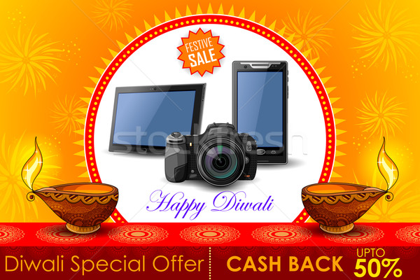 Shopping proposer diwali vacances promotion Photo stock © vectomart