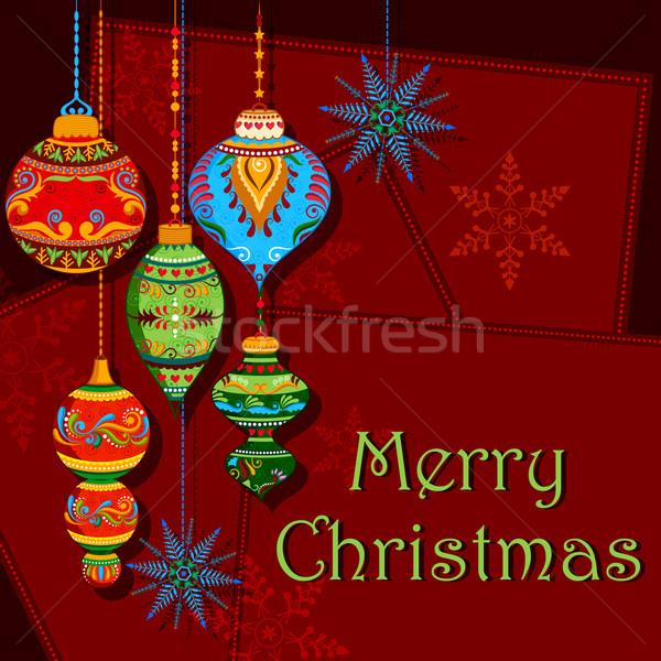 Noel tatil örnek kış duvar kağıdı Stok fotoğraf © vectomart