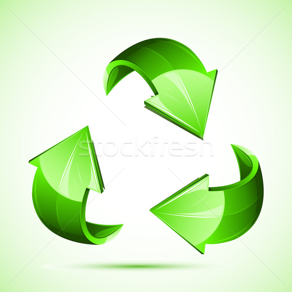 Recycler illustration symbole isolé blanche printemps Photo stock © vectomart