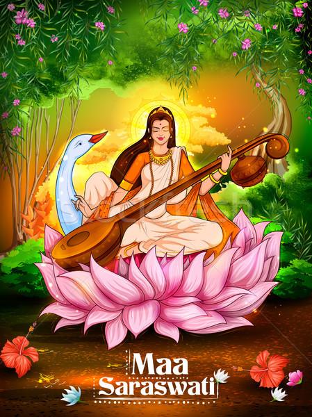Dea saggezza India festival illustrazione arte Foto d'archivio © vectomart