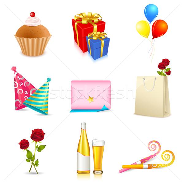 Birthday Elements Stock photo © vectomart