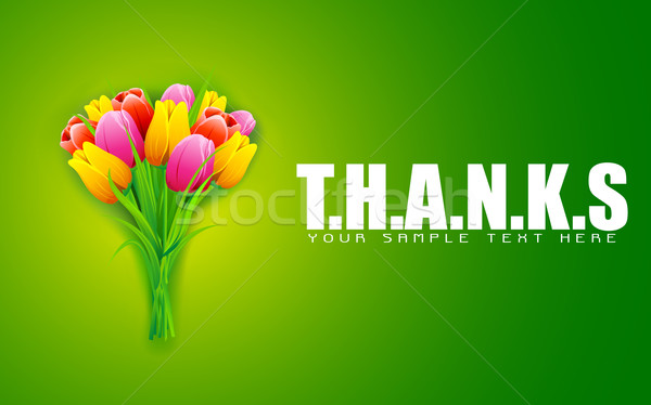 Thanks Background Stock photo © vectomart
