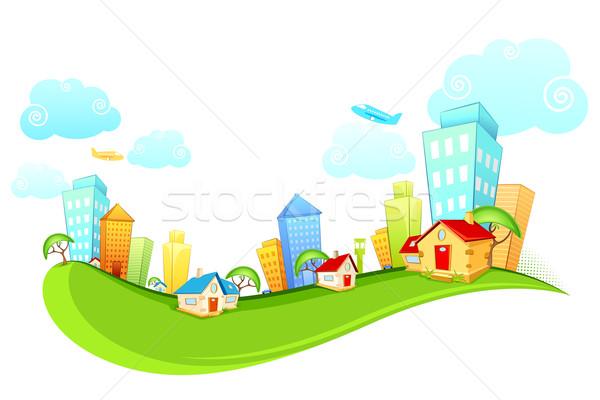 City Scape illustration bâtiment maison ville Photo stock © vectomart