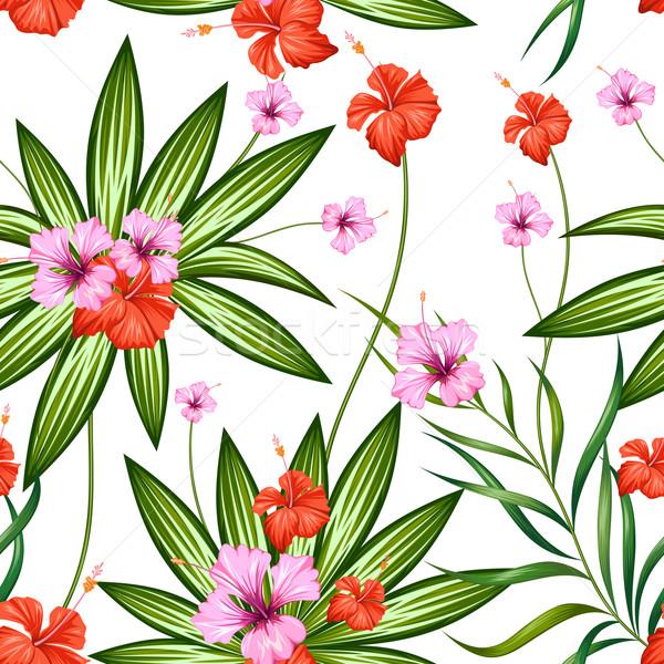 Exótico flor tropical ilustração primavera natureza Foto stock © vectomart