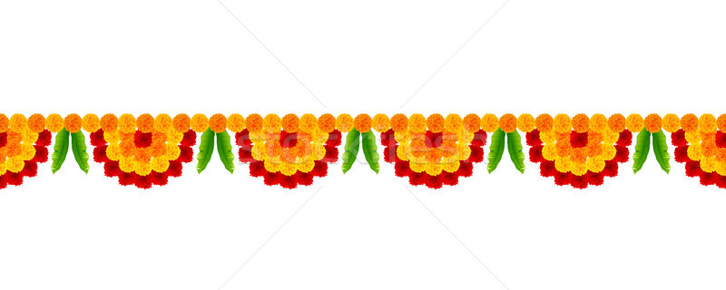 Stock photo: Flower garland decoration toran for Happy Diwali Holiday background