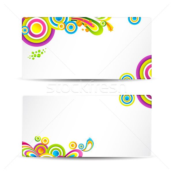Colorful Visiting Card Stock photo © vectomart