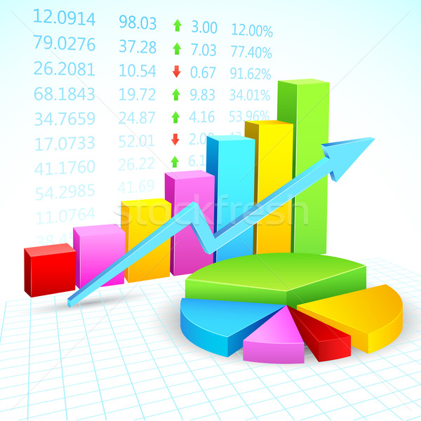 Financial Graph Stock photo © vectomart