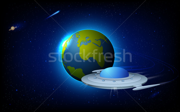 Space Craft near Earth Stock photo © vectomart