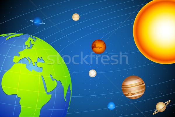 Solar System Stock photo © vectomart