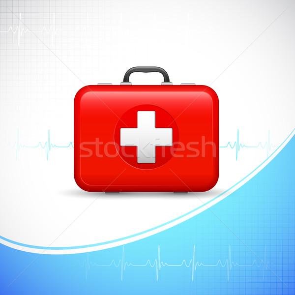 応急処置 ボックス 実例 医療 にログイン 薬 ストックフォト © vectomart