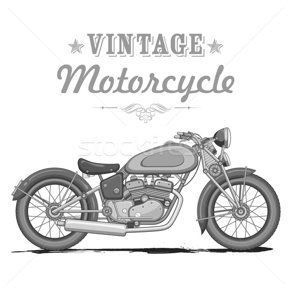 Vintage Motorcycle Stock photo © vectomart