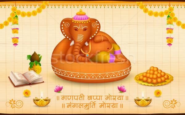 Lord Ganesha made of clay Ganesh Chaturthi Stock photo © vectomart