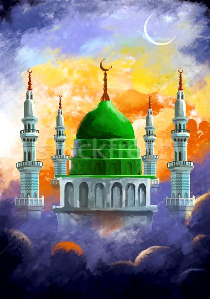 Ramadan genereus illustratie god gebed viering Stockfoto © vectomart