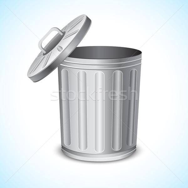 Cesto de lixo ilustração abstrato fundo aço limpeza Foto stock © vectomart