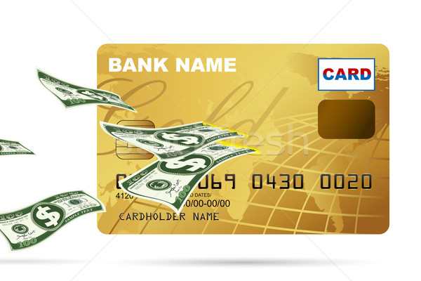 Dollar coming out of Credit Card Stock photo © vectomart