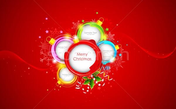 Weihnachten Spielerei Illustration farbenreich glücklich abstrakten Stock foto © vectomart