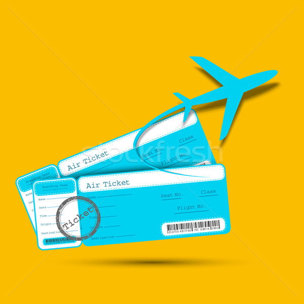 Flight Ticket with Airplane Stock photo © vectomart