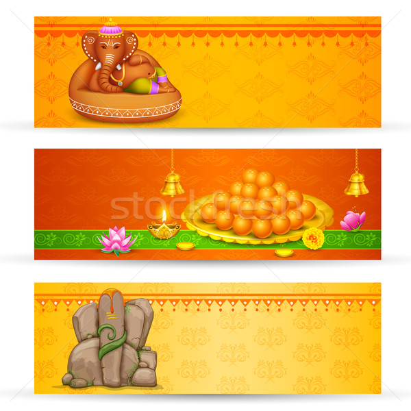 Banner for Ganesh Chaturthi Stock photo © vectomart