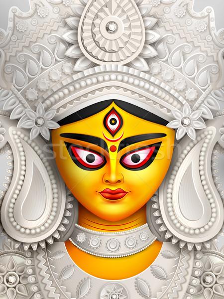 богиня лице счастливым иллюстрация дизайна поклонения Сток-фото © vectomart