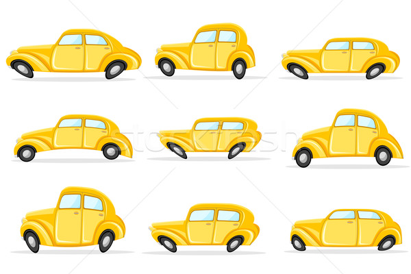 Car in Different Shape Stock photo © vectomart