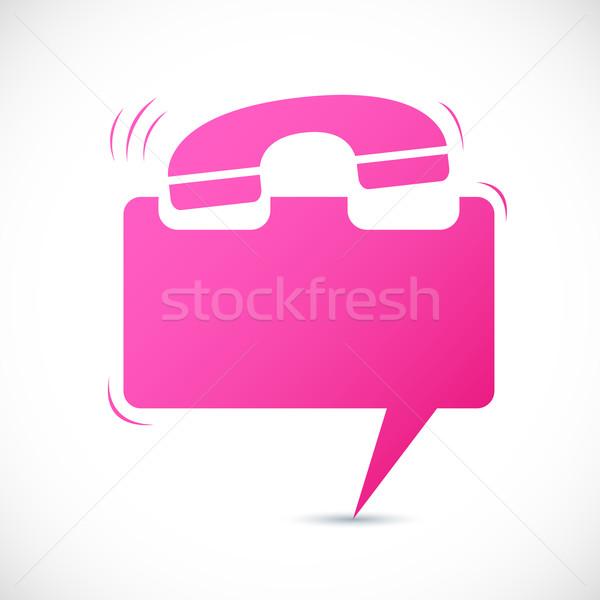 Chiamando chattare bolla illustrazione telefono abstract Foto d'archivio © vectomart