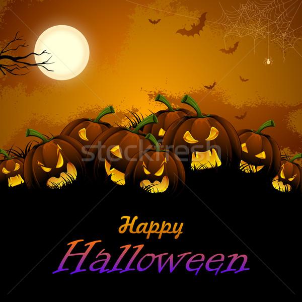 Jack-o-lantern Pumpkin in Halloween night Stock photo © vectomart
